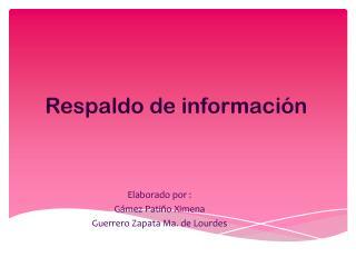 Respaldo de información