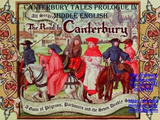 Canterbury Tales Prologue in Middle English