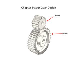Chapter 9 Spur Gear Design