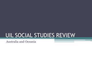 UIL SOCIAL STUDIES REVIEW