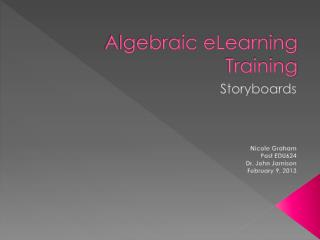Algebraic eLearning Training