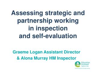 Assessing strategic and partnership working  in  inspection  and self-evaluation