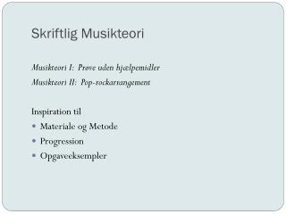 Skriftlig Musikteori