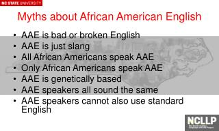 Myths about African American English