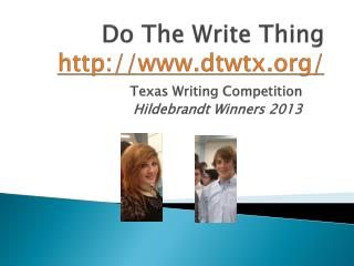 Do The Write Thing http://www.dtwtx.org/