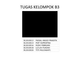 TUGAS KELOMPOK B3