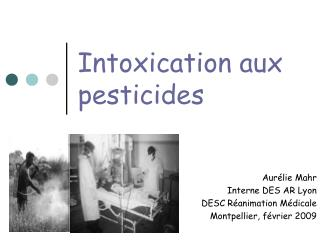 Intoxication aux pesticides