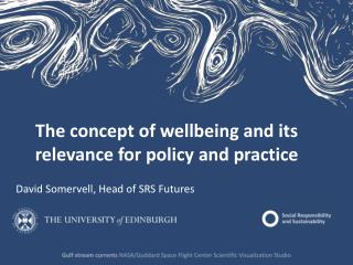 T he  concept of wellbeing and its relevance for policy and practice