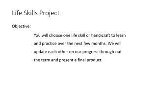 Life Skills Project