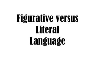 literal and figurative language pdf