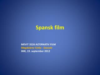 Spansk film