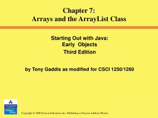 Starting Out with Java:  Early  Objects  Third Edition