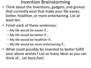 Invention Brainstorming