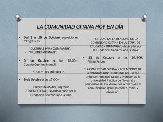 """Del  3 al 15 de Octubre  exposiciones fotográficas:  """" CULTURAS PARA COMPARTIR""""."""