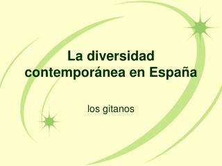 La  diversidad contemporánea  en  España