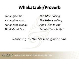 Whakatauki/Proverb