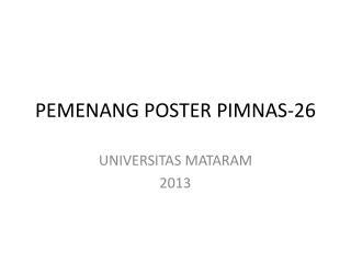 PEMENANG POSTER PIMNAS-26