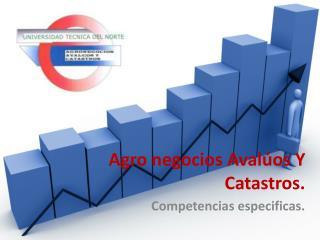 Agro negocios Avalúos Y Catastros.