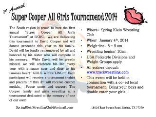 Super Cooper All Girls Tournament 2014