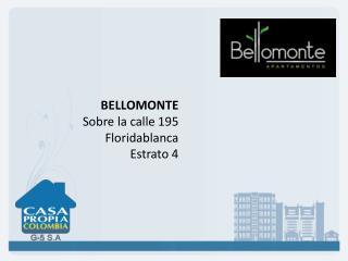 BELLOMONTE Sobre la calle 195 Floridablanca Estrato 4