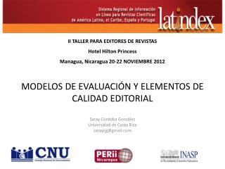 MODELOS  DE EVALUACIÓN Y ELEMENTOS DE CALIDAD EDITORIAL