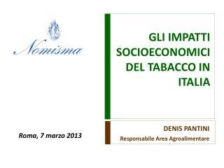 GLI  IMPATTI SOCIOECONOMICI  DEL  TABACCO IN ITALIA