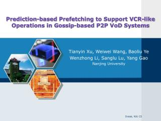 Prediction-based  Prefetching  to Support VCR-like Operations in Gossip-based P2P  VoD  Systems