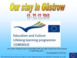 Our stay in Güstrow