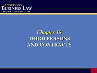 Chapter 18 THIRD PERSONS AND CONTRACTS