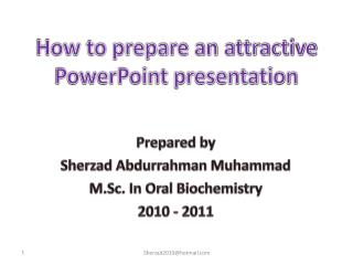 How to prepare an attractive PowerPoint presentation
