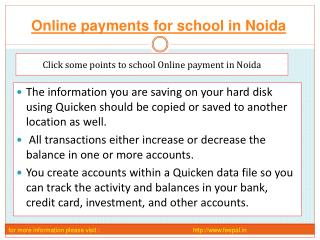 One of the best site of online payment for school in Noida