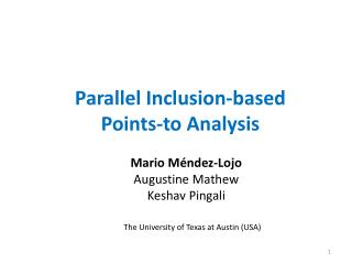 Parallel Inclusion-based Points-to Analysis