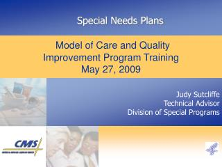 Care Management  through  Special Needs Plans