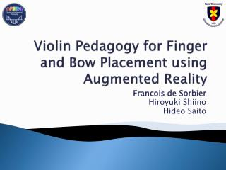 Violin Pedagogy for Finger and Bow Placement using Augmented Reality