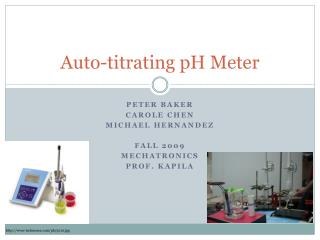 Auto-titrating pH Meter