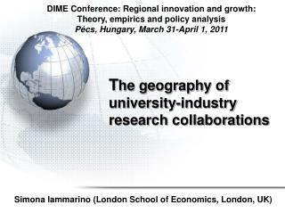T he geography of university-industry research collaborations