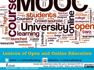 Lexicon of Open and Online Education
