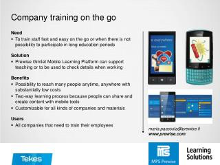 Company training on the go