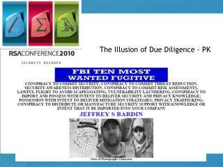 The Illusion of Due Diligence - PK