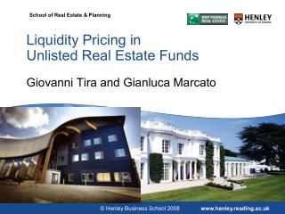 Liquidity Pricing in Unlisted Real Estate Funds