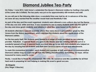 Diamond Jubilee Tea-Party