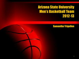 Arizona State University  Men's Basketball Team 2012-13