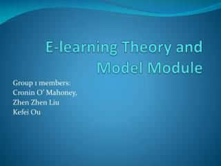 E-learning Theory and Model Module