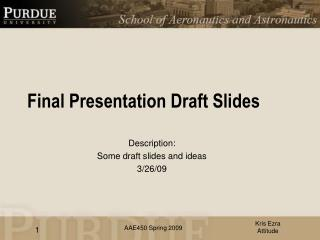 Final Presentation Draft Slides