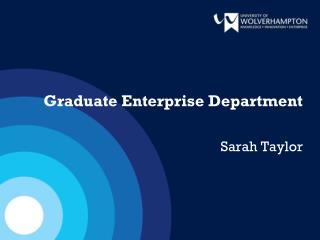 Graduate Enterprise Department