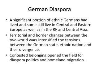 German Diaspora
