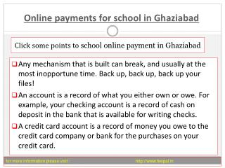 The importance of online payment for school in Ghaziabad