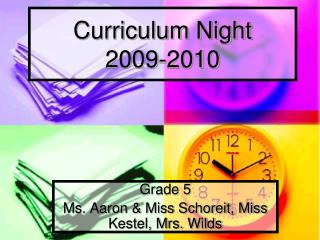 Curriculum Night 2009-2010