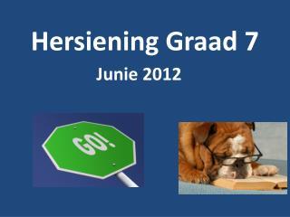 Hersiening Graad 7