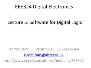 EEE324 Digital Electronics